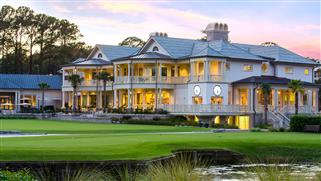 Harbour Town Clubhouse at Sunset