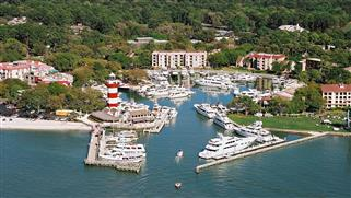 Harbour Town Yacht Basin Aerial View