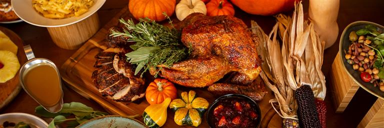 Thanksgiving Turkey and fixings