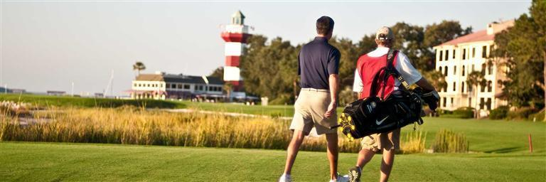 Caddie with Golfers on Harbour Town Golf Links