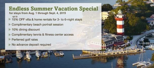 Hilton Head Island Late Summer Vacation Special