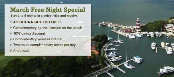 Hilton Head Island March Vacation Special