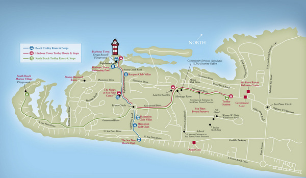 Sea Pines Trolley Map